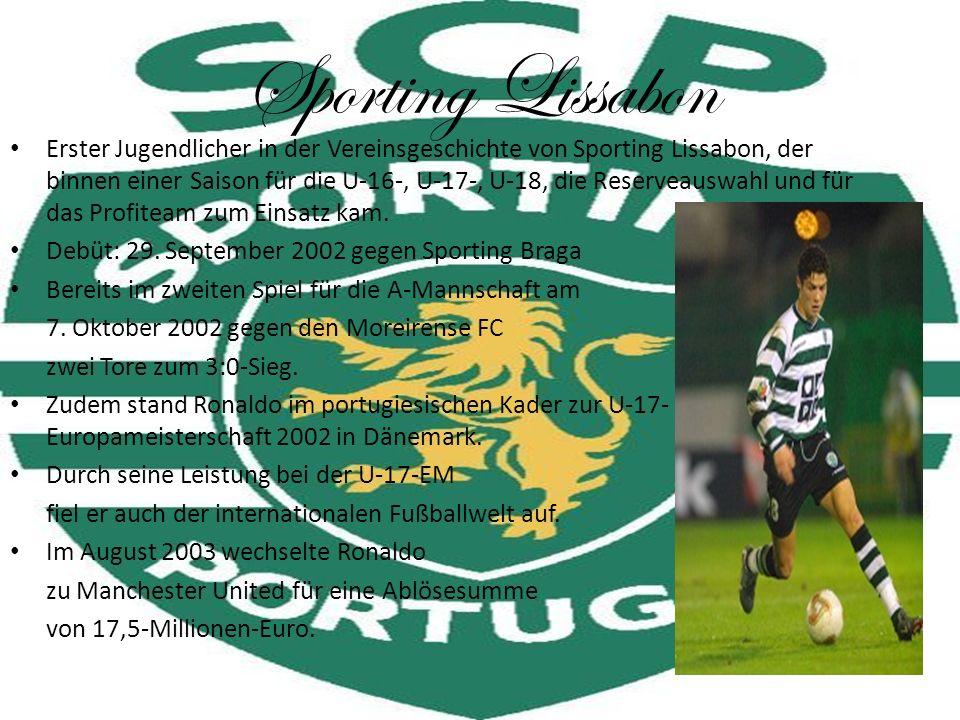 Sporting Lissabon Erster Jugendlicher in der Vereinsgeschichte von Sporting Lissabon, der binnen einer Saison für die U-16-, U-17-, U-18, die Reservea