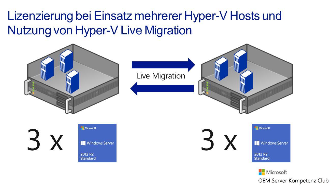 3 x Live Migration