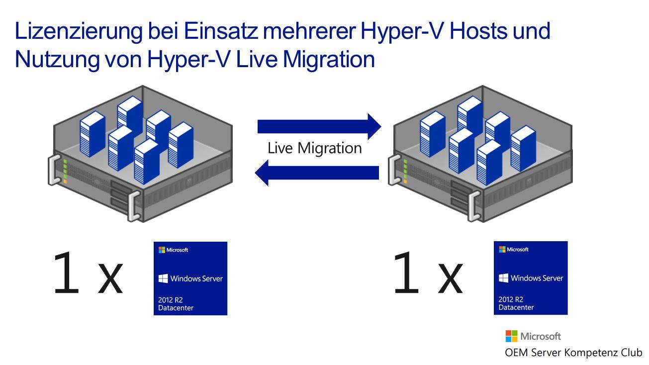 1 x Live Migration