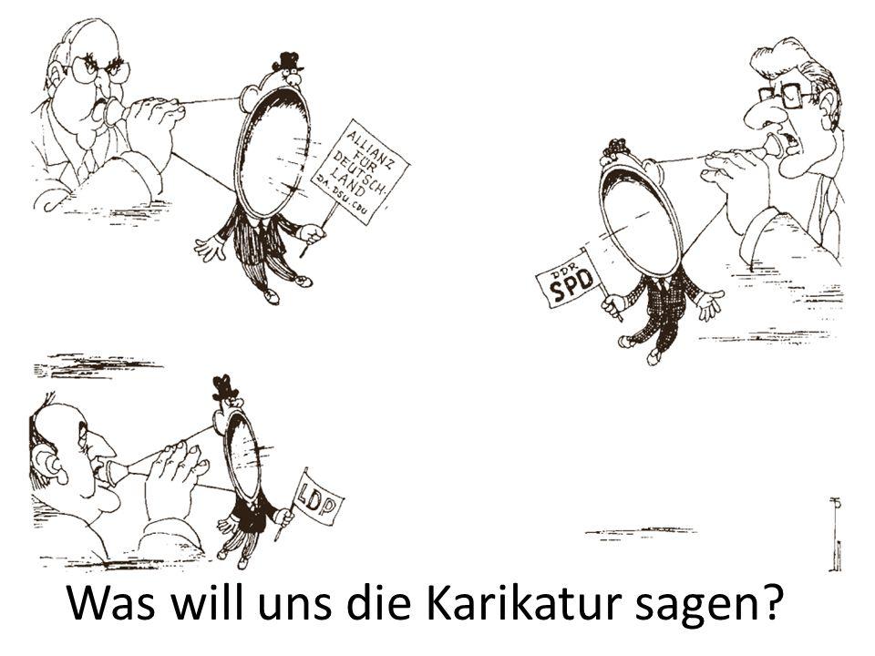Was will uns die Karikatur sagen?