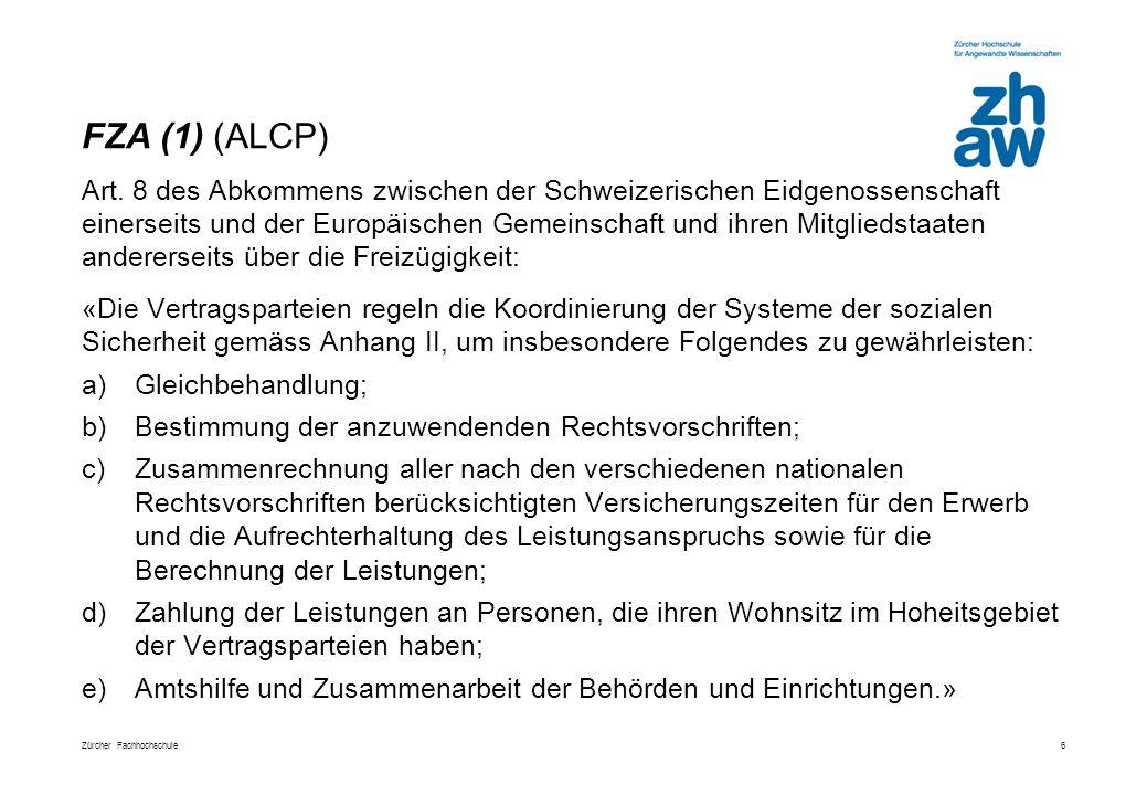 Zürcher Fachhochschule6 Art.