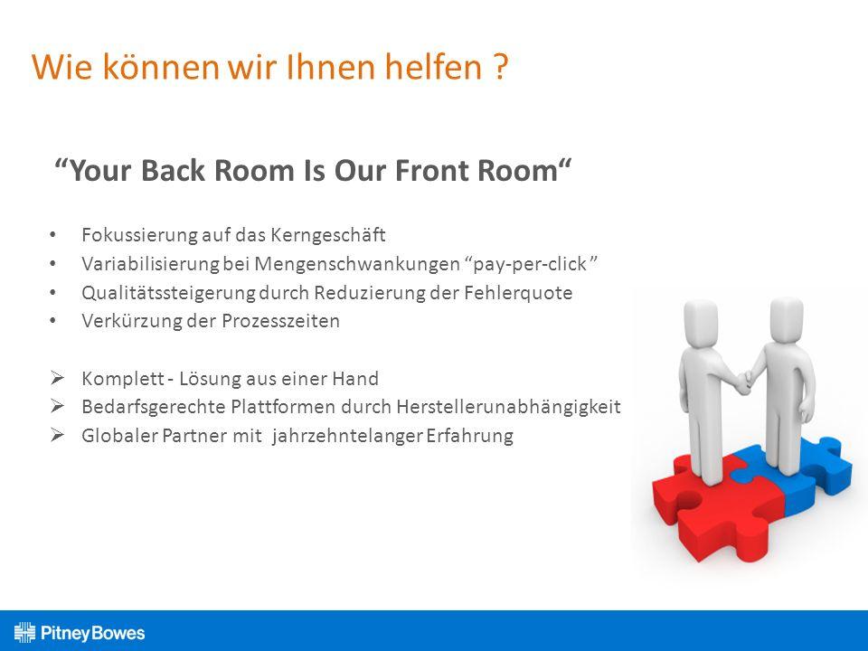Wie können wir Ihnen helfen ? Your Back Room Is Our Front Room Fokussierung auf das Kerngeschäft Variabilisierung bei Mengenschwankungen pay-per-click