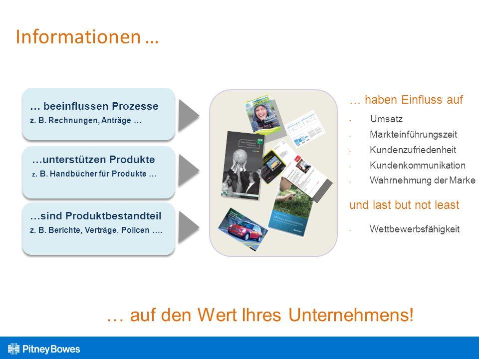 Informationen … … auf den Wert Ihres Unternehmens! … haben Einfluss auf Umsatz Markteinführungszeit Kundenzufriedenheit Kundenkommunikation Wahrnehmun