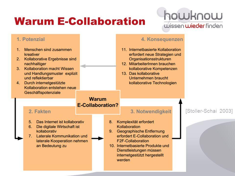 Warum E-Collaboration [Stoller-Schai 2003]