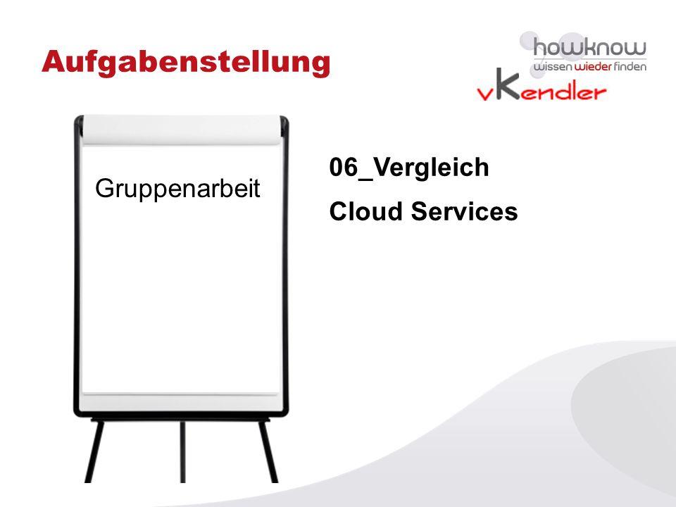 Aufgabenstellung Gruppenarbeit 06_Vergleich Cloud Services