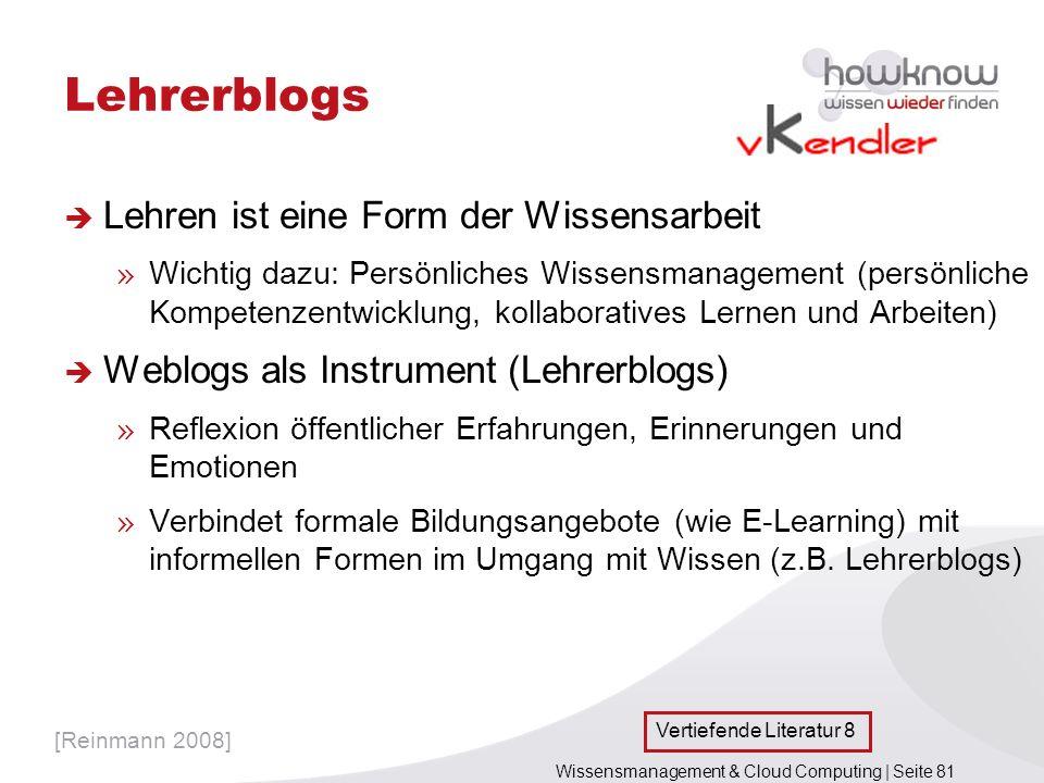 Wissensmanagement & Cloud Computing | Seite 81 Lehrerblogs Lehren ist eine Form der Wissensarbeit » Wichtig dazu: Persönliches Wissensmanagement (pers
