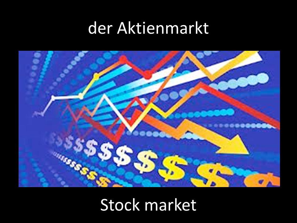 der Aktienmarkt Stock market