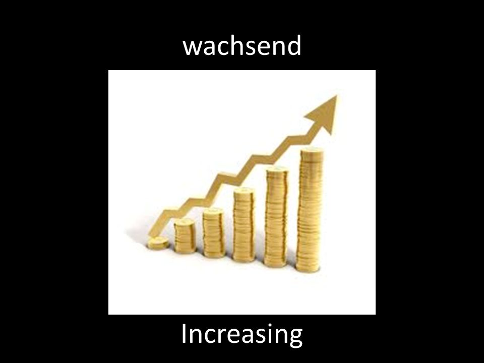 wachsend Increasing