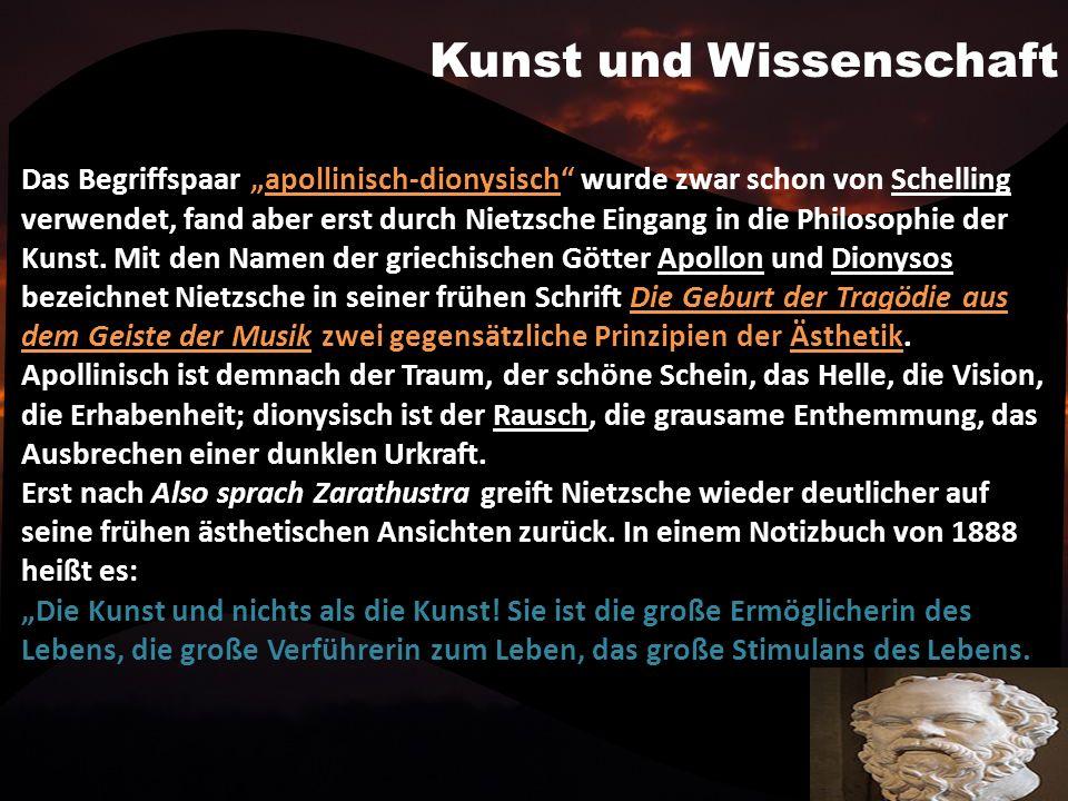 Kritik der Moral Eines der wichtigsten Objekte von Nietzsches Kritik spätestens seit Menschliches, Allzumenschliches ist die Moral im Allgemeinen und