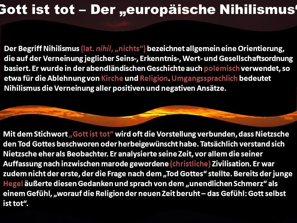 Der Begriff Nihilismus (lat.