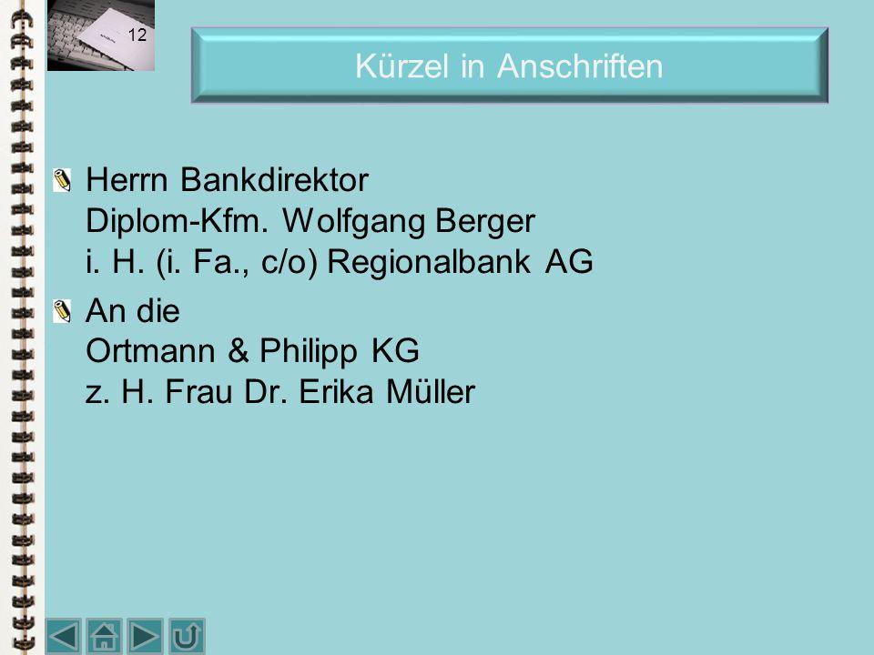Anschrift von mehreren Personen Kanzlei Innerhofer und Wurzer Herren Rechtsanwälte H. Innerhofer und K. Wurzer Frau Vera Inderst Frau Ilse Maier Recht