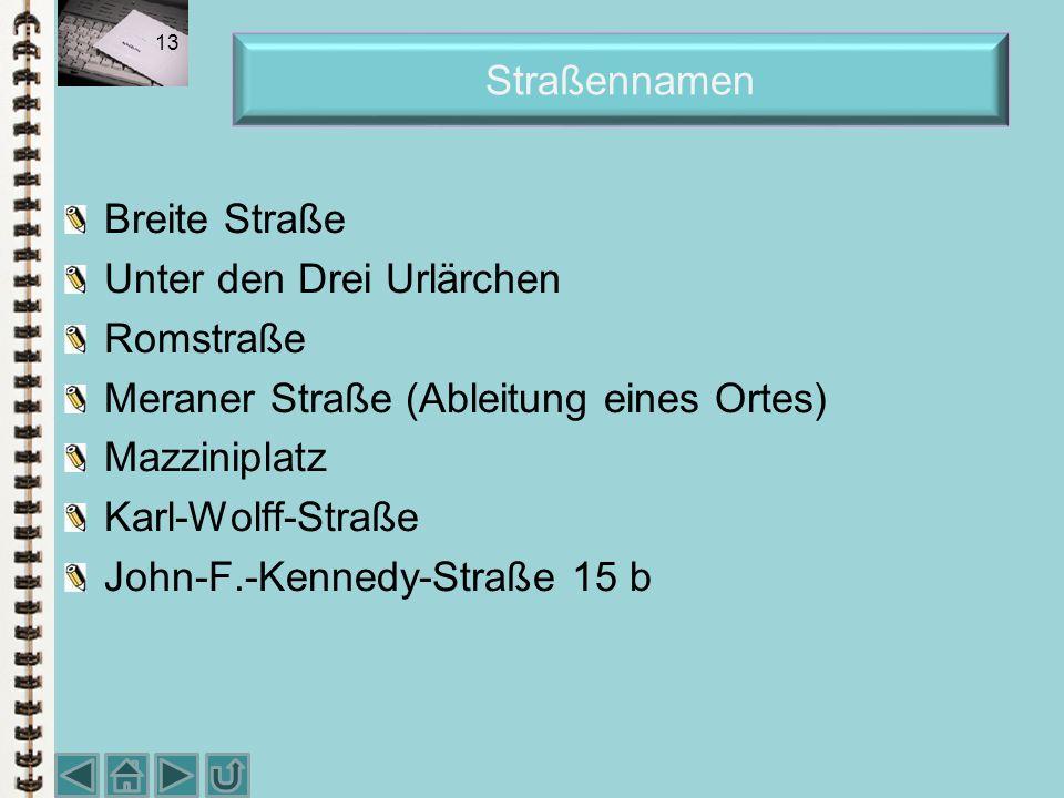 Kürzel in Anschriften Herrn Bankdirektor Diplom-Kfm. Wolfgang Berger i. H. (i. Fa., c/o) Regionalbank AG An die Ortmann & Philipp KG z. H. Frau Dr. Er