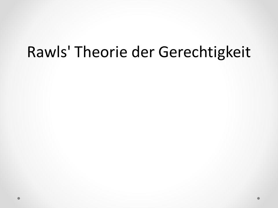Rawls' Theorie der Gerechtigkeit