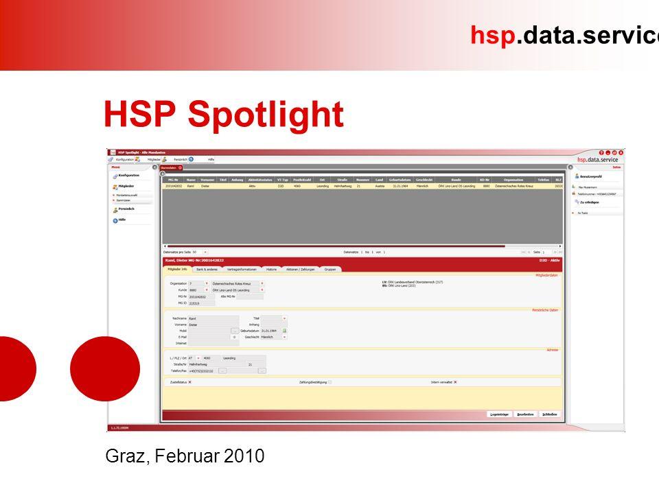 hsp.data.service HSP Spotlight 31.
