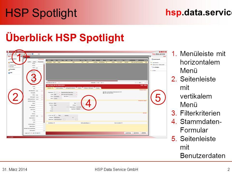 hsp.data.service 31.März 20143HSP Data Service GmbH Wie logge ich mich ein.