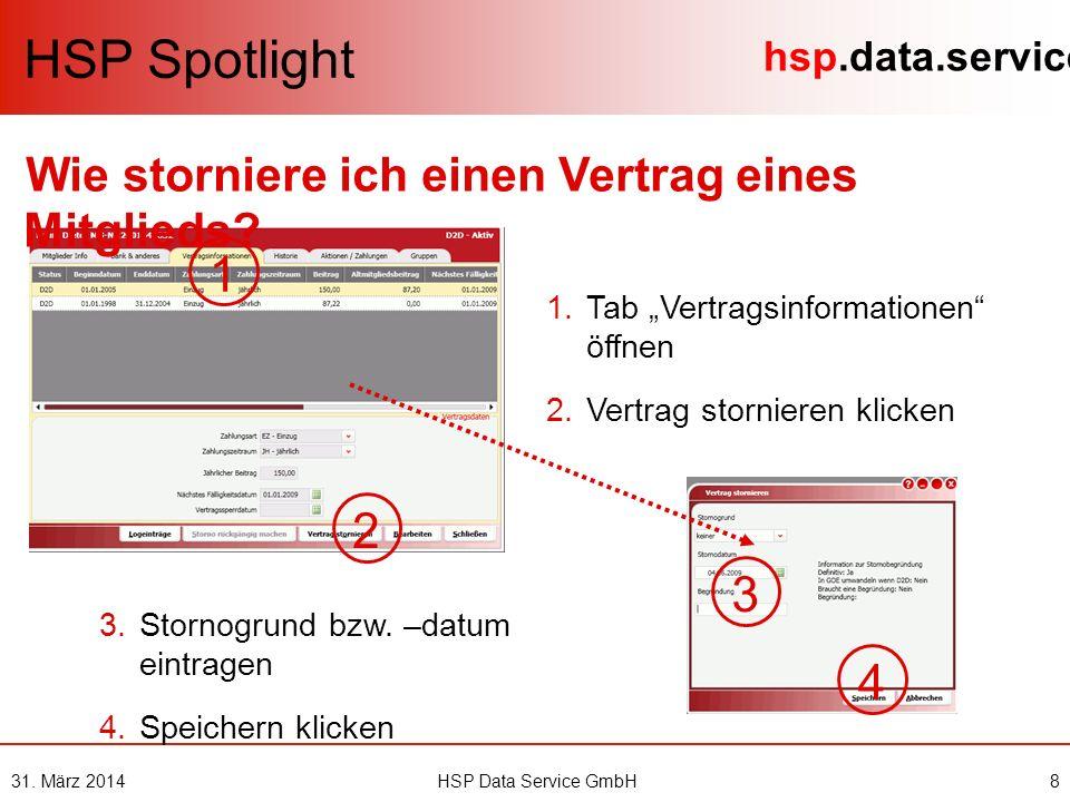 hsp.data.service HSP Spotlight 1 2 NEU: Wo verwalte ich Gruppen.