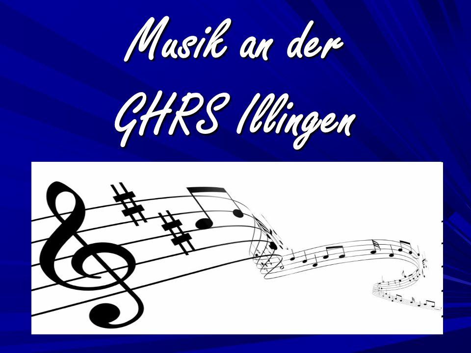 Musik im Regelunterricht Musik in AGs Flötenklasse 3 und 4 Flötenklasse 3 und 4 Bläserklasse 5 und 6 Bläserklasse 5 und 6 Orchesterklasse 7 und 8 Orchesterklasse 7 und 8 Wahlkurs Musik 9 und 10 Wahlkurs Musik 9 und 10 Schulchor (3, 4, 5) Schulchor (3, 4, 5) Schulorchester (ab 7) Schulorchester (ab 7) Schulband (ab 8) Schulband (ab 8)