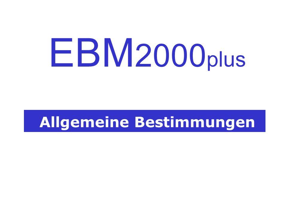 Allgemeine Bestimmungen EBM 2000 plus