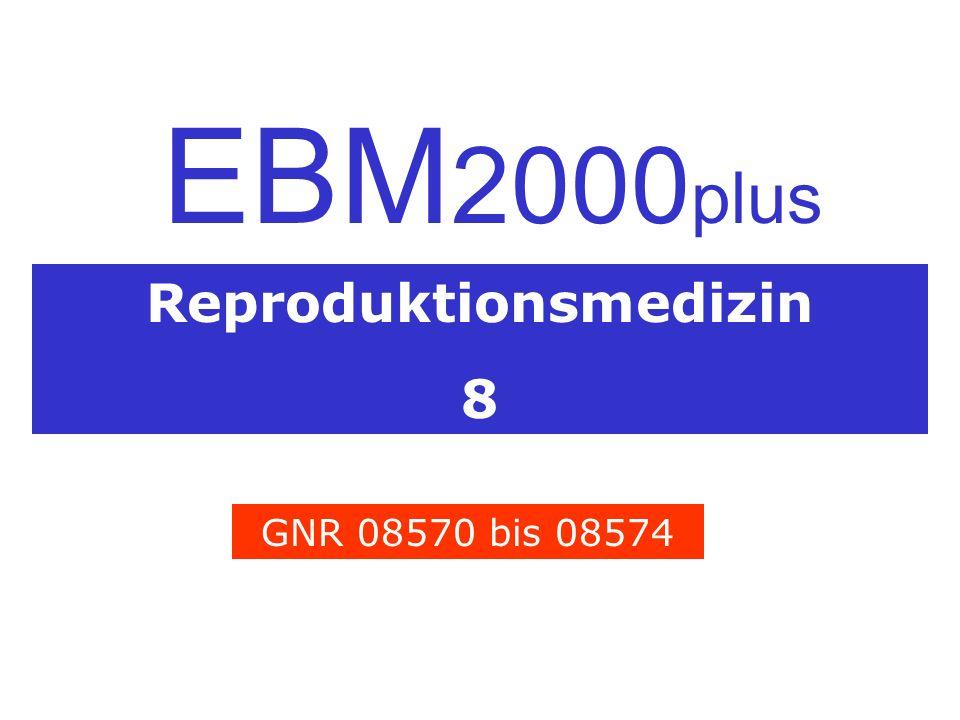Reproduktionsmedizin 8 EBM 2000 plus GNR 08570 bis 08574