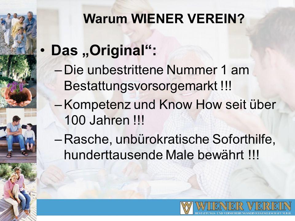 Wiener Verein Bestattungsvorsorge Mehr als 410.000 Kunden haben Anspruch......