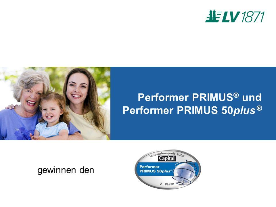 Performer PRIMUS ® und Performer PRIMUS 50plus ® gewinnen den
