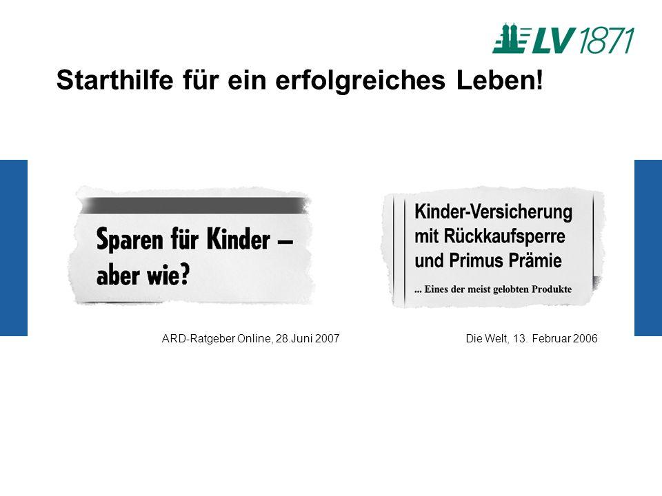 Starthilfe für ein erfolgreiches Leben! ARD-Ratgeber Online, 28.Juni 2007Die Welt, 13. Februar 2006