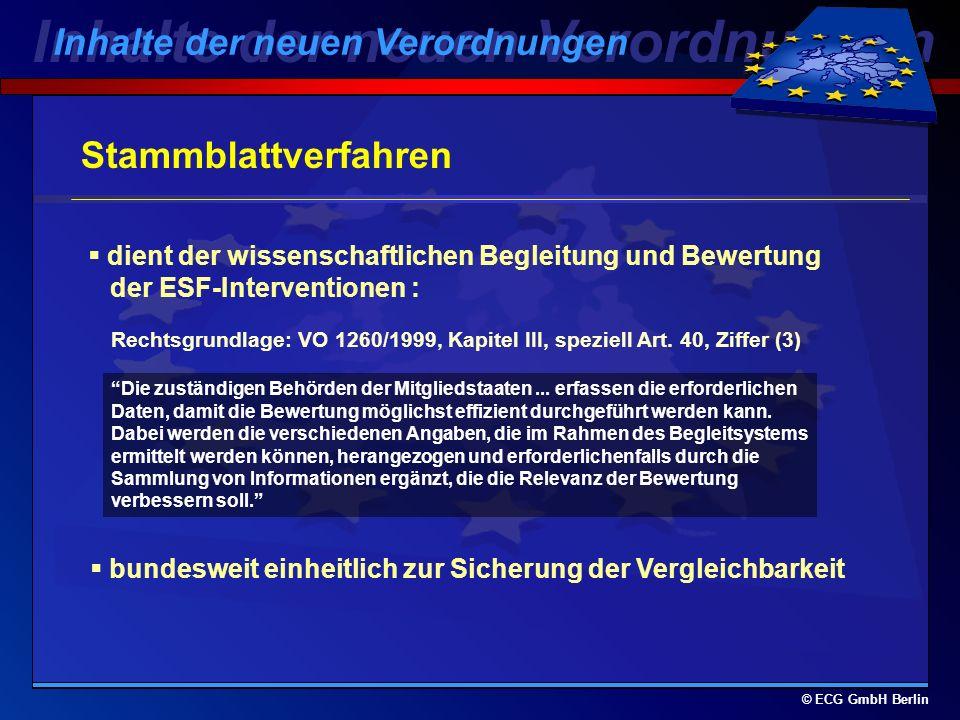 © ECG GmbH Berlin Ausgabennachweise - per 31.12. jeden Jahres: Einreichung bis 15.02.