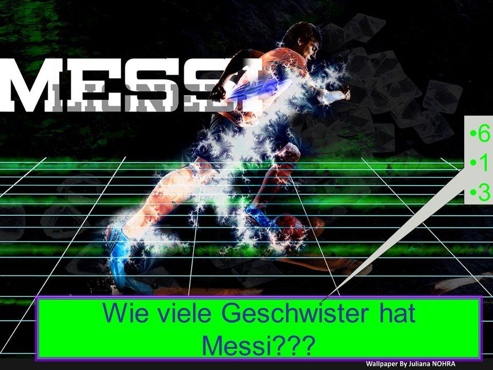 Wie viele Geschwister hat Messi??? 6 1 3