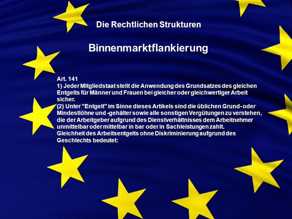 Art. 141 1) Jeder Mitgliedstaat stellt die Anwendung des Grundsatzes des gleichen Entgelts für Männer und Frauen bei gleicher oder gleichwertiger Arbe