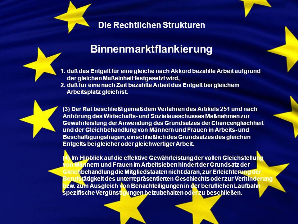 Die Rechtlichen Strukturen Binnenmarktflankierung 1.