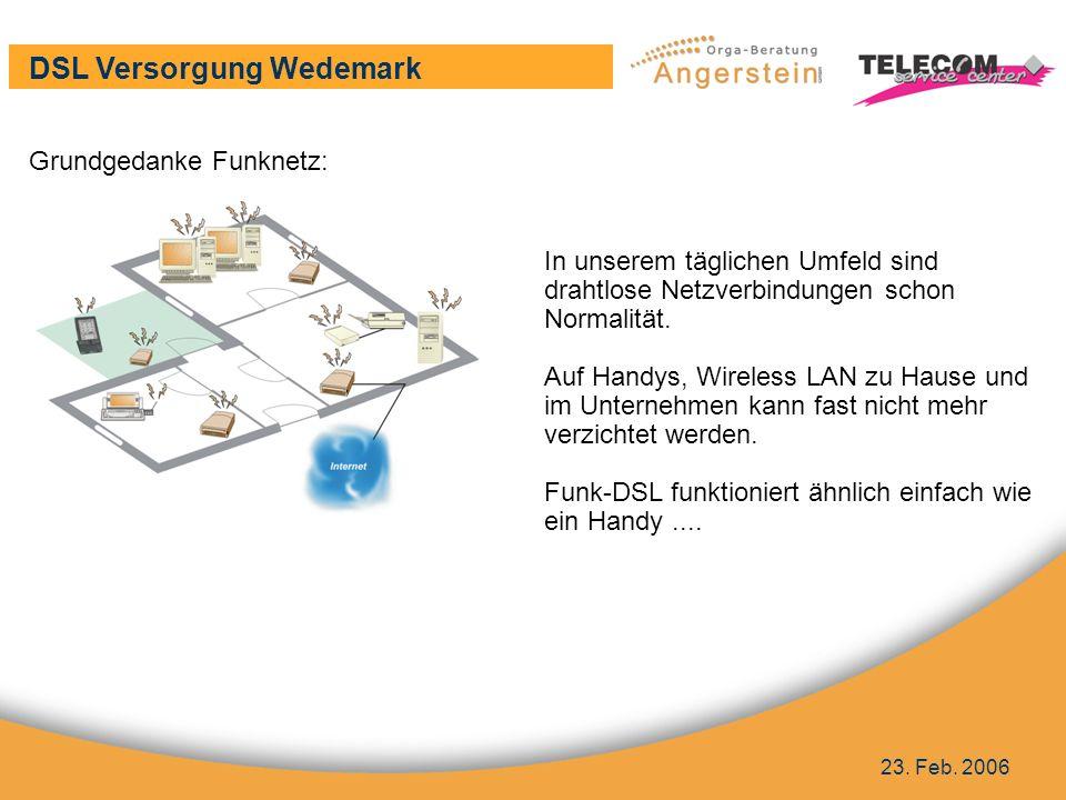 DSL Versorgung Wedemark 23. Feb.