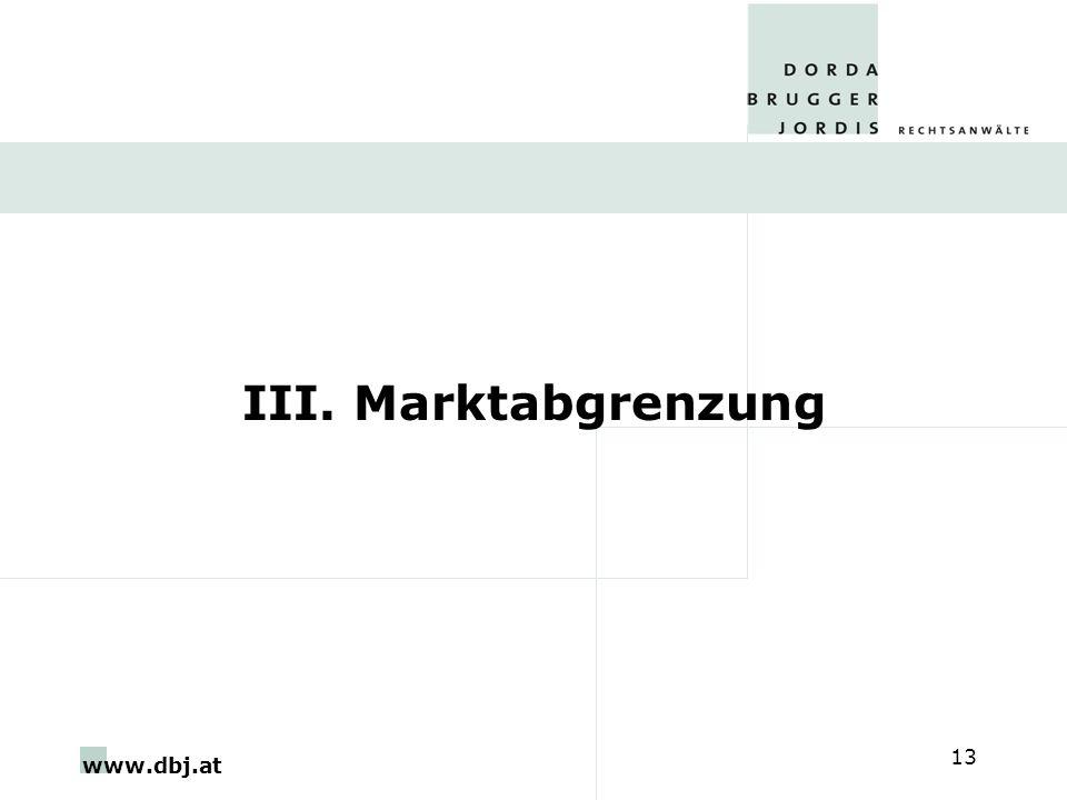 www.dbj.at 13 III. Marktabgrenzung