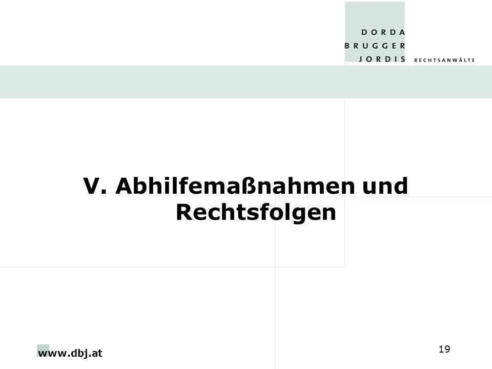 www.dbj.at 19 V. Abhilfemaßnahmen und Rechtsfolgen