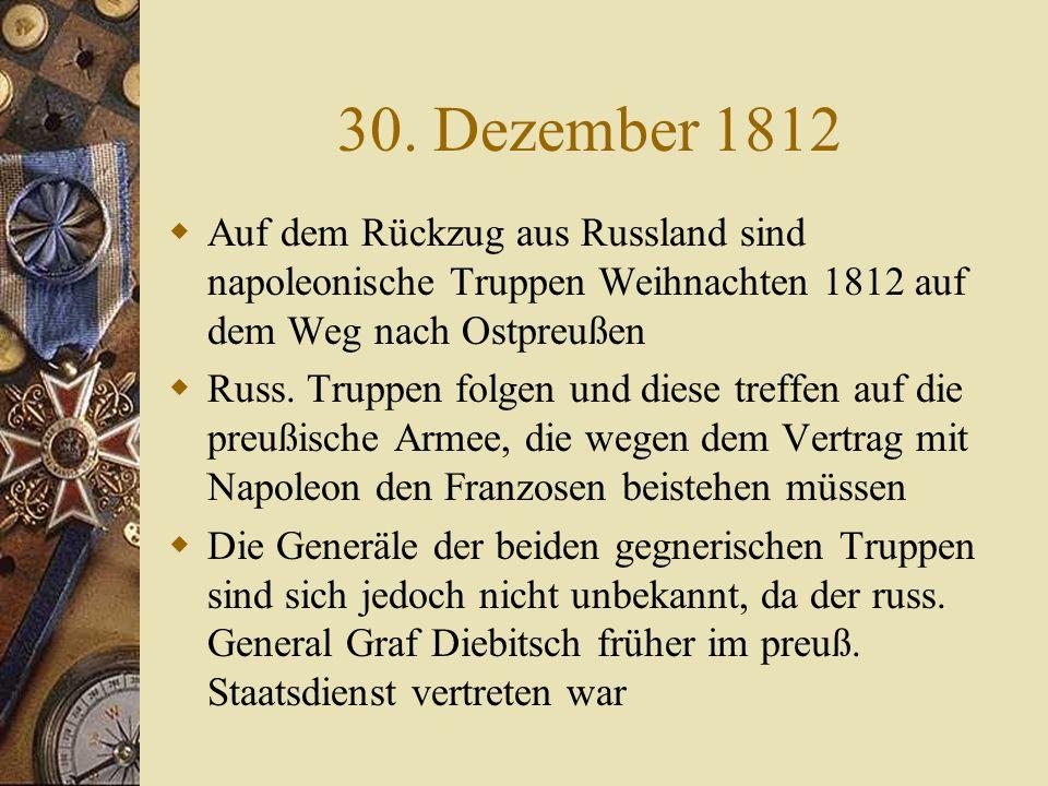 9. Juli 1807 Friede von Tilsit: Die, bei den Beratungen am 25. Juni vereinbarten Abgaben Preußens, werden nun fällig Das ganze alte Preußen steht am E