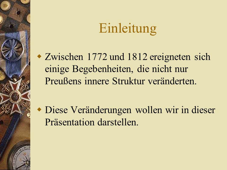 Preußen 1772 - 1812