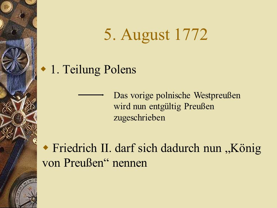 5.August 1772 1.