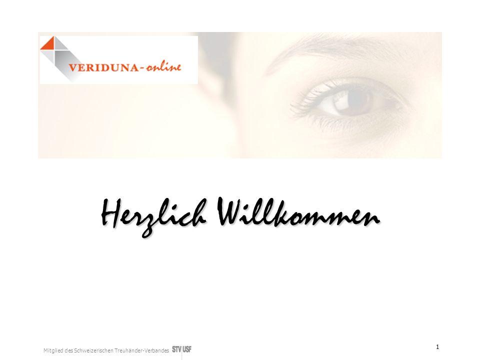 Mitglied des Schweizerischen Treuhänder-Verbandes 1 Herzlich Willkommen