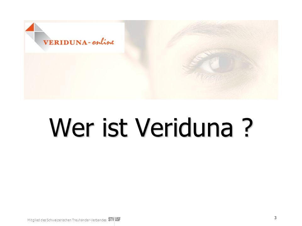 Mitglied des Schweizerischen Treuhänder-Verbandes 3 Wer ist Veriduna