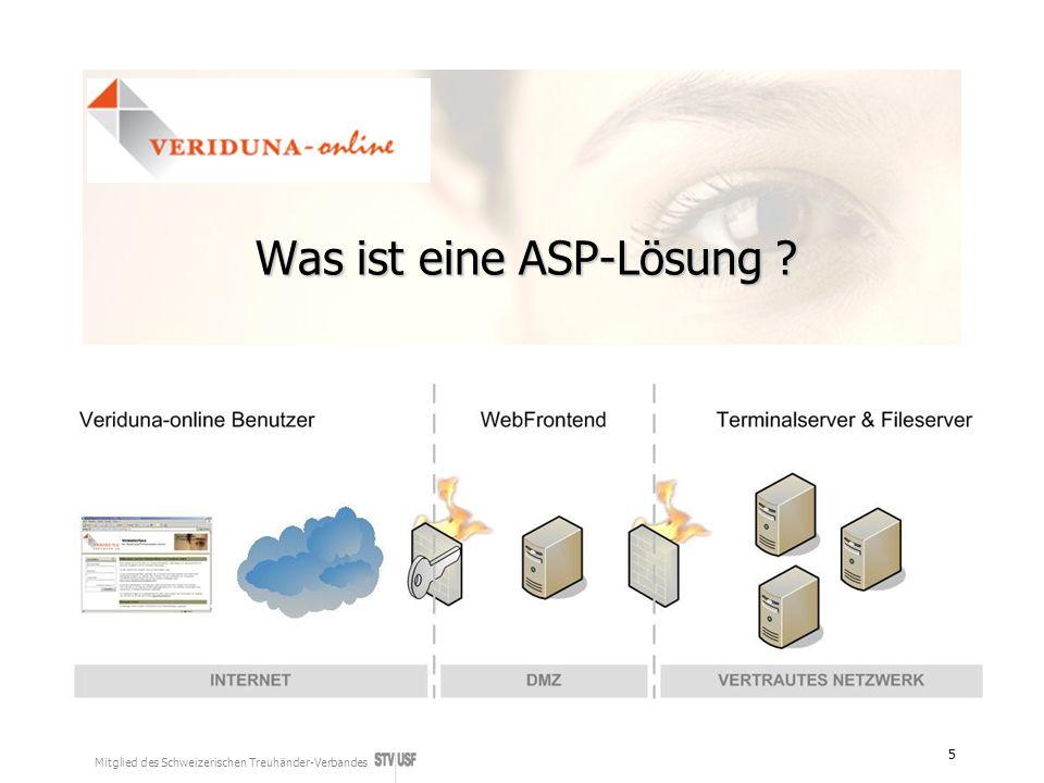 Mitglied des Schweizerischen Treuhänder-Verbandes 5 Was ist eine ASP-Lösung