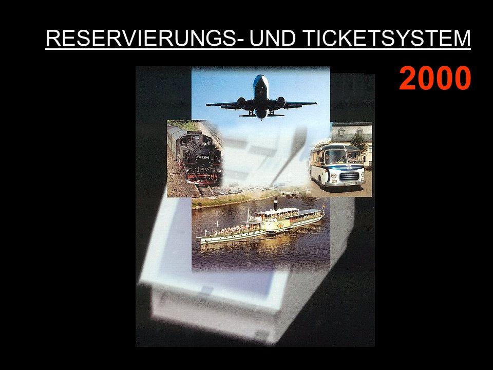 RESERVIERUNGS- UND TICKETSYSTEM 2000