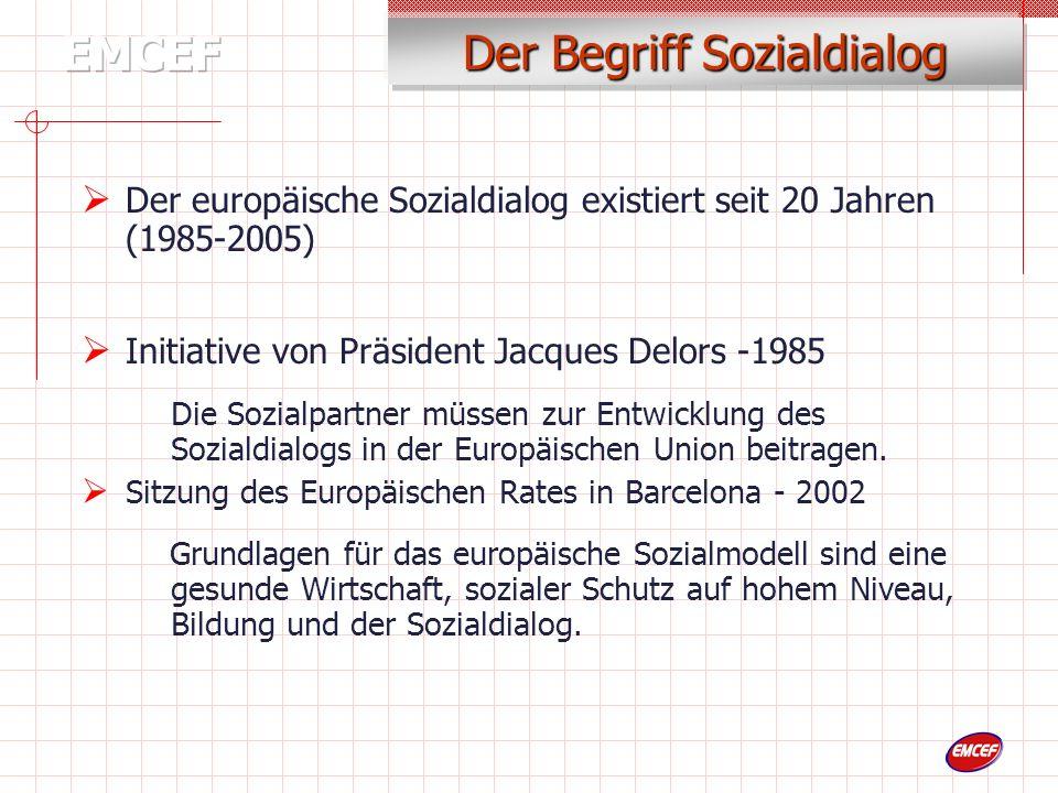 Kommission Gewerk- schaften Arbeitgeber 1985-1991 Kommission Gewerk- schaften Arbeitgeber 2002...