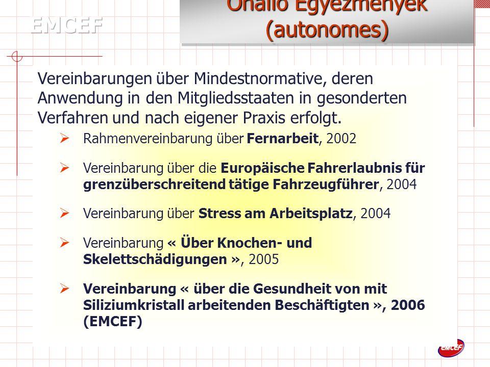 Rahmenvereinbarung über den Elternurlaub, 1995 Rahmenvereinbarung über Teilzeitarbeit, 1997 Rahmenvereinbarung über befristete Arbeit, 1999 ….