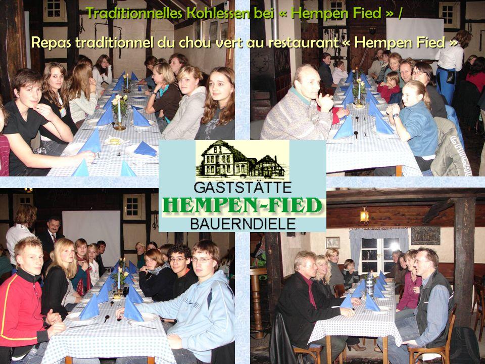 28 Traditionnelles Kohlessen bei « Hempen Fied » / Repas traditionnel du chou vert au restaurant « Hempen Fied »