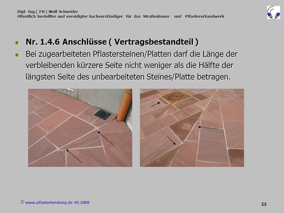 © www.pflasterberatung.de 05.2008 55 Dipl.-Ing.( FH ) Wulf Schneider öffentlich bestellter und vereidigter Sachverständiger für das Straßenbauer- und