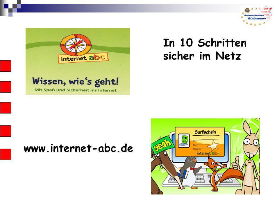 In 10 Schritten sicher im Netz www.internet-abc.de