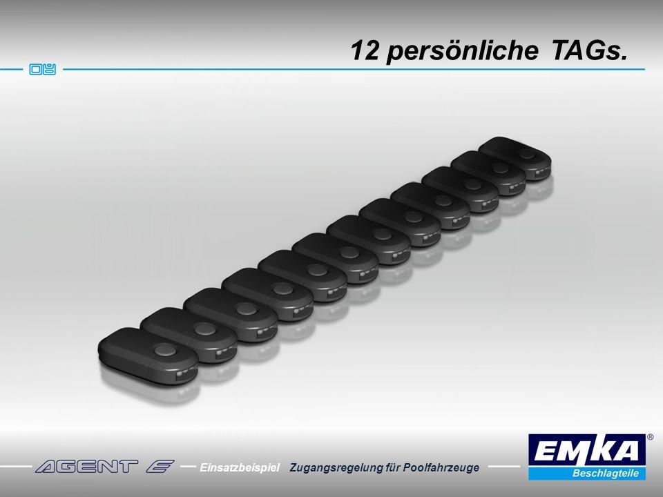 12 persönliche TAGs. Einsatzbeispiel Zugangsregelung für Poolfahrzeuge