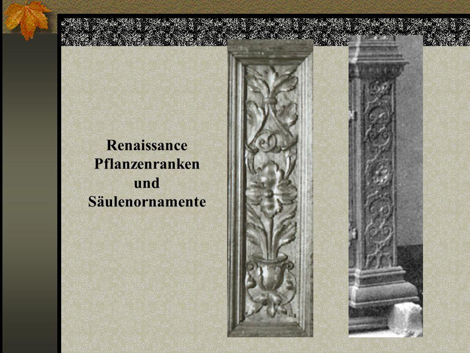 Renaissance Pflanzenranken und Säulenornamente