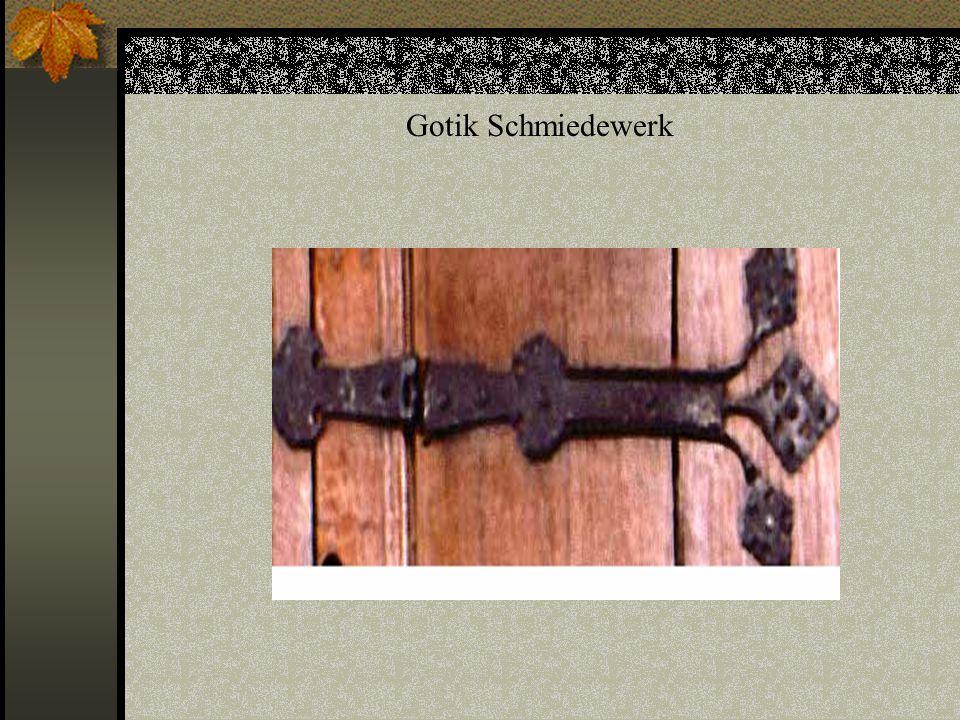 Bilderklärung Abbildung I: Wandfester Schrank der Gotik Gotik Wandfester Schrank der Gotik