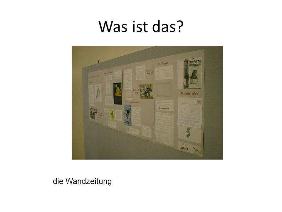 die Wandzeitung