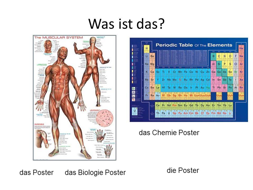 das Poster das Biologie Poster das Chemie Poster die Poster